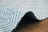 Handgemaakt katoen turquoise vloerkleed Retif 310_