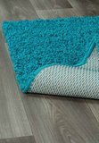 Hoogpolig vloerkleed turquoise Calys 170  _