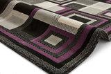 Action vloerkleed kleur zwart purple 3222_