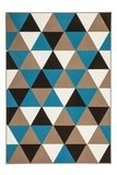 Designer vloerkleed Stellos Multi Turquoise_