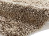 Hoogpolig vloerkleed Montblanc kleur mink_