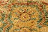 Vintage vloerkleed Madras geel met 3D effect_