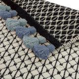 Wollen vloerkleed Belmonte 6016191030 zwart wit groen_