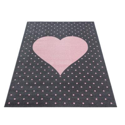 Kindervloerkleed Sunny Pink 830
