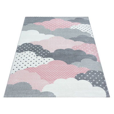 Kindervloerkleed Sunny Pink 820