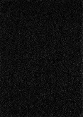 Zwart hoogpolig vloerkleed of karpet Seram 1300