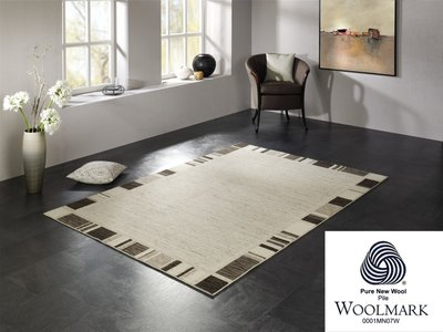 Wollen vloerkleed Wool Plus 470 Natur