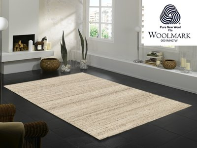 Wollen design vloerkleden Wool Plus 469 Natur