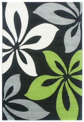 Laagpolig vloerkleed Fleur 720 Groen