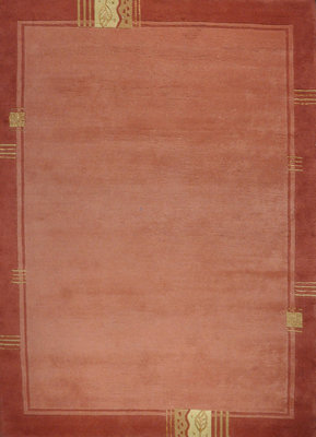 Wollen vloerkleed Nepal Plus 92600 Caramel