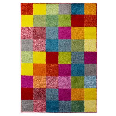Multicolor vloerkleed Borneo Grid