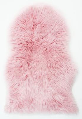 Vacht vloerkleed Vallis kleur roze