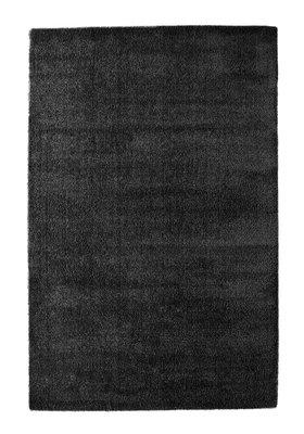 Zwart hoogpolig vloerkleed of tapijt Nias 1200