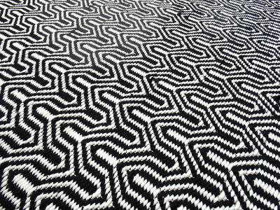 Geweven vloerkleden Taunus Zwart wit