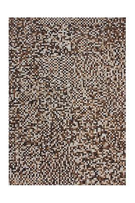 Leren vloerkleed Patch 850 kleur Beige