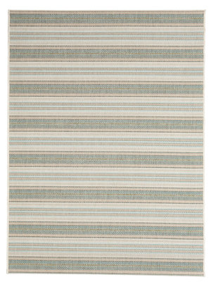 Modern gestreept vloerkleed of karpet Patmos Groen