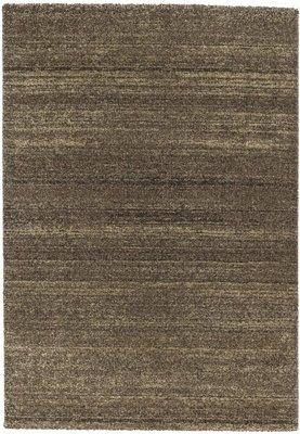 Effen vloerkleed Soraja kleur bruin 150/060