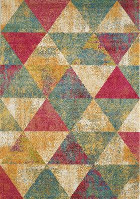 Retro vintage vloerkleed of karpet Borneo 1618 Multi