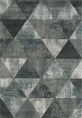 Retro vintage vloerkleed of karpet Borneo 1618 Grijs