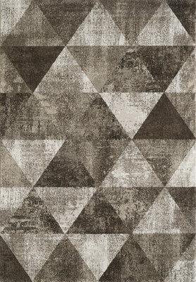 Retro vintage vloerkleed of karpet Borneo 1618 Creme