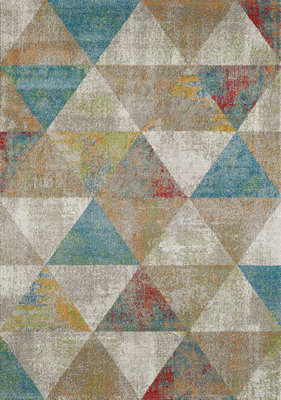 Retro vintage vloerkleed of karpet Borneo 1618 Blauw