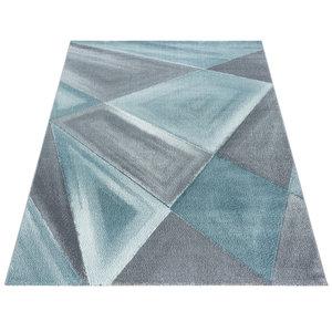 Modern blauw vloerkleed
