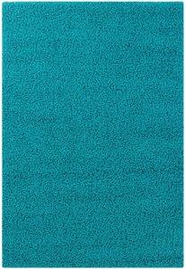 Hoogpolig vloerkleed turquoise Calys 170