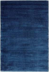 Effen vloerkleed Paris 610 Blauw
