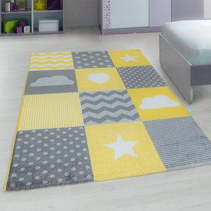 Kinderkamer tapijt Child 620/AY Geel